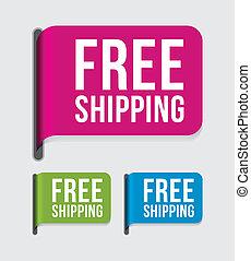 címke, szabad, modern, hajózás, %u2013