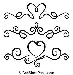 calligraphic, alapismeretek, virágos