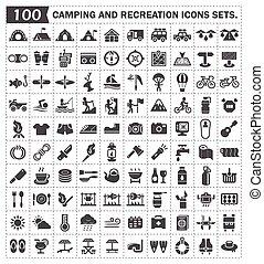 campping, ikon