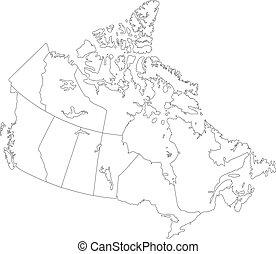 canada térkép, áttekintés