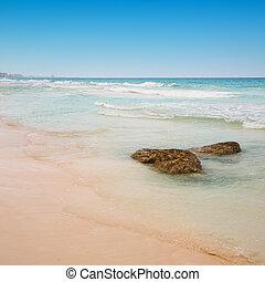 cancun, tengerpart, mexikó