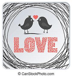 card2, szeret madár
