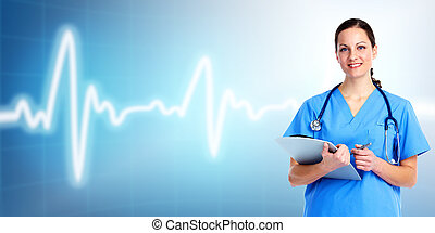 care., orvos, egészség, orvosi, woman.