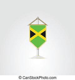 caribbean, nemzeti, ábra, jelkép, jamaica., countries.