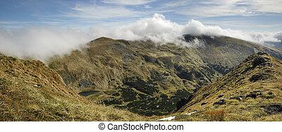 carpathian, hegyek, panoráma, gyönyörű