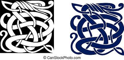 celtic jelkép, nagy, bonyolult, vector., tattoo.