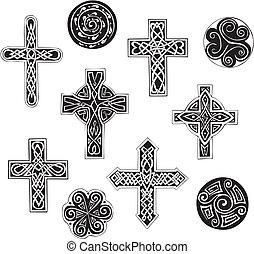 celtic kereszteződnek, cpirals, csomó