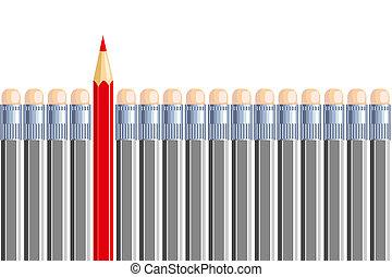 ceruza, gray., different., lenni, néhány, egy, más, másik