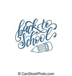 ceruza, izbogis, drawing., szüret, fogad kezezés, háttér., vektor, poszter, oktatás, lettering., gyerekek