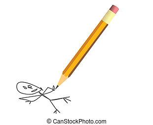 ceruza, sárga