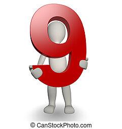 charcter, birtok, szám 9, emberi, 3