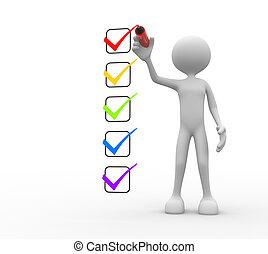 checklist., emberek, -, személy bábu, 3
