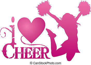 cheerlead, éljenzés, ugrás, szeret