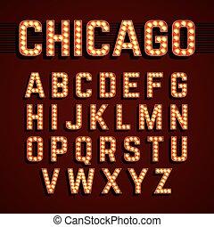chicago, állati tüdő, betűtípus, broadway