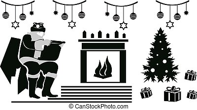 children., felolvasás, tehetség, szent, ábra, klaus, jó, lista, karácsony