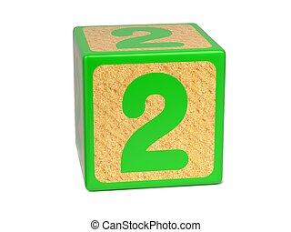 childrens, abc, -, szám 2, block.