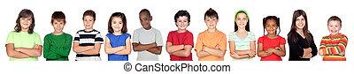 children?s, csoport, fegyver kereszteződnek