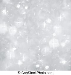 christmas., pattog, vektor, ezüst, háttér