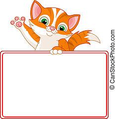 cica, kártya, állás