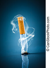 cigaretta csikk, -, smoking., nem