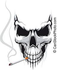 cigaretta, koponya