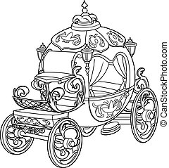 cinderella, mese, tündér, sütőtök, kocsi