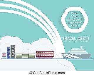 cirkálás, utazás közvetítő, hajó