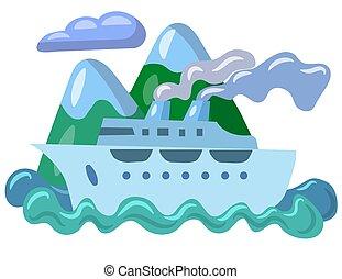 cirkálás, utazás, tenger