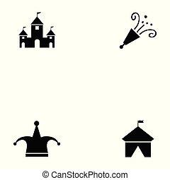 cirkusz, állhatatos, ikon