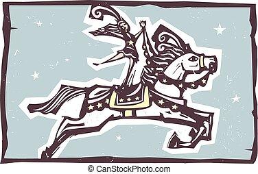 cirkusz, ló