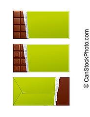 citrom, package., csomagolás, csokoládé, zöld, tiszta
