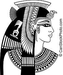 cleopatra, fej, részletez
