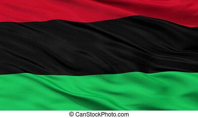 closeup, panafrican, unia, seamless, felszabadulás, lobogó, black american, afrikai származású, bukfenc