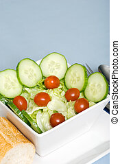 closeup, saláta, hányódás
