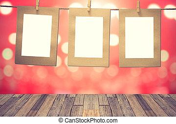 clothesline., fénykép, függő, pillanat, tiszta