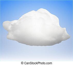 cloud., egyedülálló, vektor