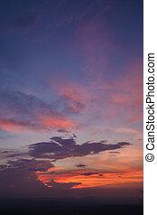 cloudscape, félhomály, idő