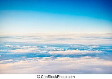 cloudscape, felül, kilátás