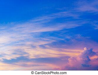 cloudscape, napnyugta