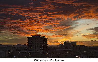 cloudscape, scottsdale, felett, félhomály