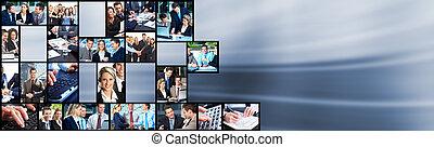 collage., emberek ügy, befog