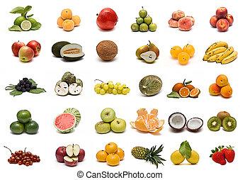 collection., gyümölcs