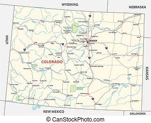 colorado, liget, térkép, nemzeti