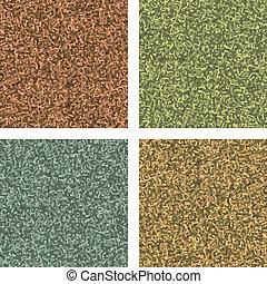 colorways., klasszikus, motívum, eps, álcáz, négy, 8