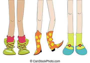 combok, cipők