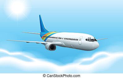 commerical, repülőgép