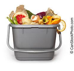 composting, konyha, tartó
