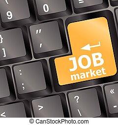 computer ábra, munka, vektor, kulcs, billentyűzet, piac