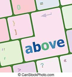 computer kulcs, gombol, beír, ábra, vektor, felül, billentyűzet