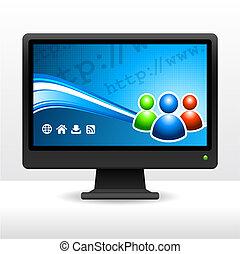 computer monitor, desktop